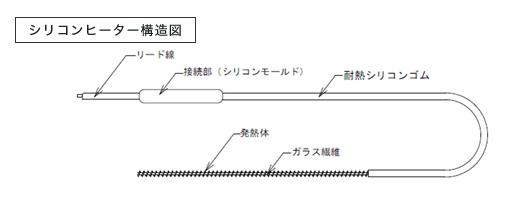 シリコンヒーター構造図