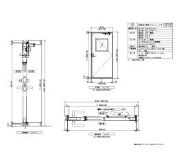 樹脂枠 片開きフラッシュ 四方・セミエアタイト レバーハンドル
