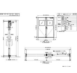 アルミ枠 両開きエアタイト 四方 グレモンハンドル