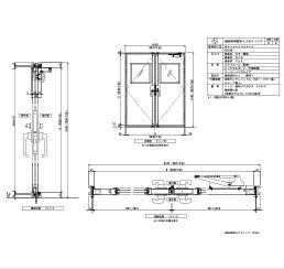 樹脂枠 両開きエアタイト 四方 両側グレモンハンドル