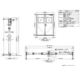 樹脂枠 両開きフラッシュ 四方・セミエアタイト レバーハンドル